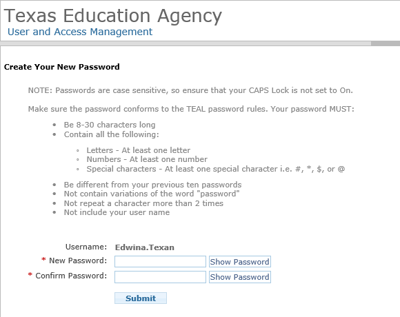 Create a TEAL User Account to Apply for or Renew Certification ...